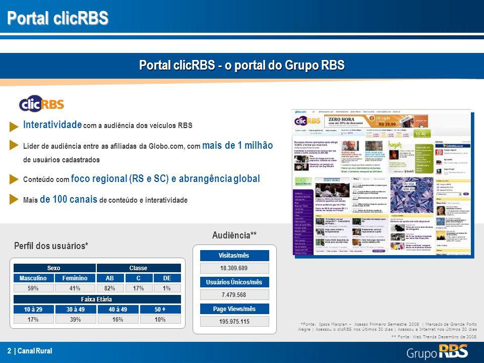 Portal clicRBS - o portal do Grupo RBS