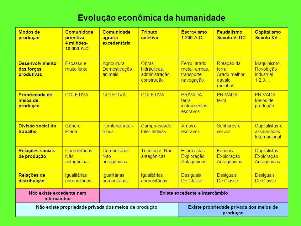 Evolução econômica da humanidade