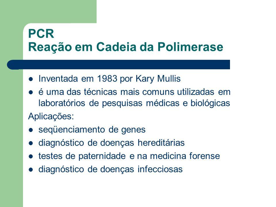 PCR Reação em Cadeia da Polimerase
