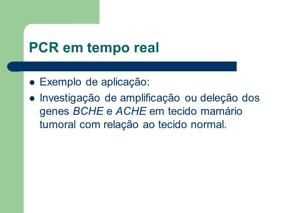 PCR em tempo real Exemplo de aplicação: