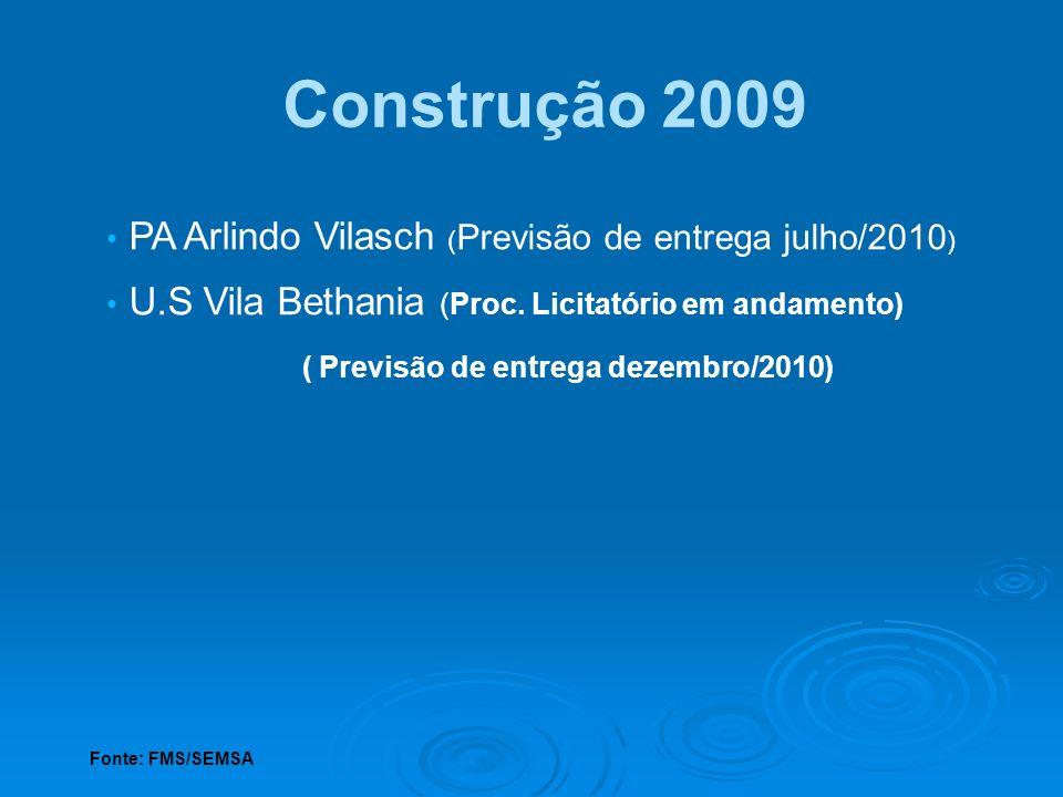 Construção 2009 PA Arlindo Vilasch (Previsão de entrega julho/2010)