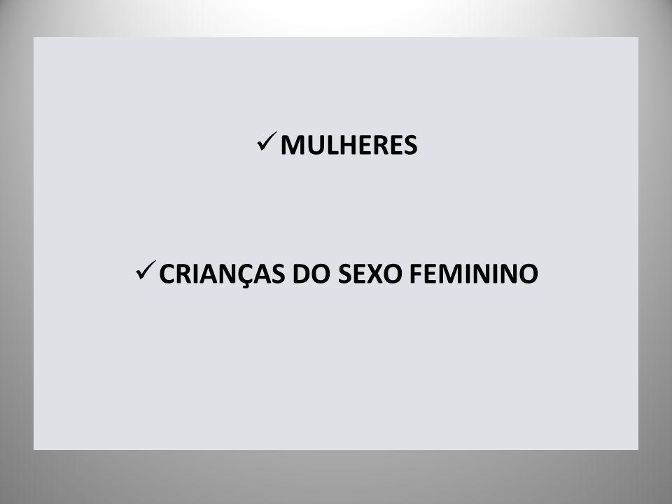 CRIANÇAS DO SEXO FEMININO