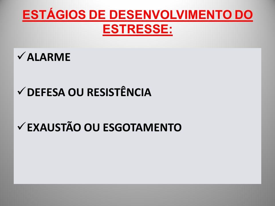 ESTÁGIOS DE DESENVOLVIMENTO DO ESTRESSE: