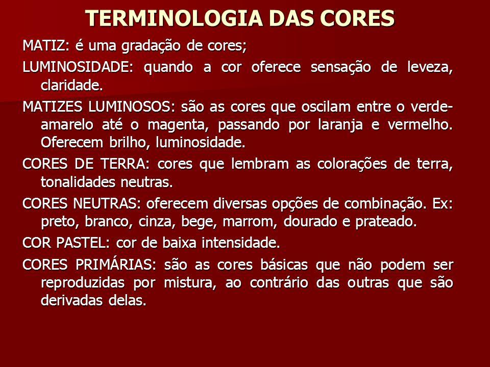 TERMINOLOGIA DAS CORES