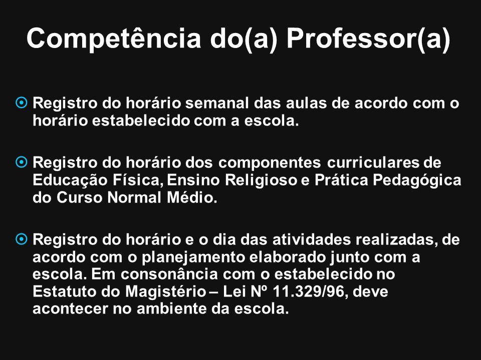 Competência do(a) Professor(a)