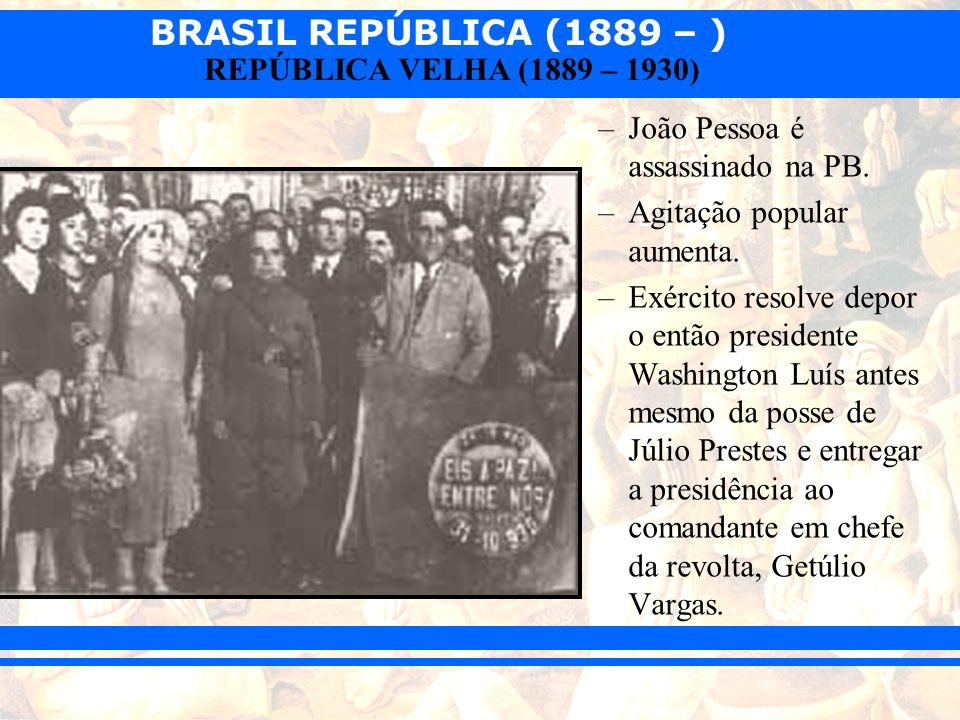 João Pessoa é assassinado na PB.