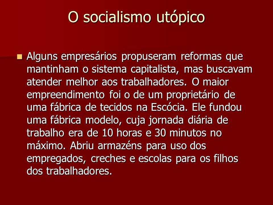 O socialismo utópico