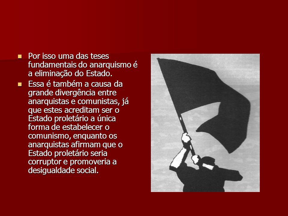 Por isso uma das teses fundamentais do anarquismo é a eliminação do Estado.