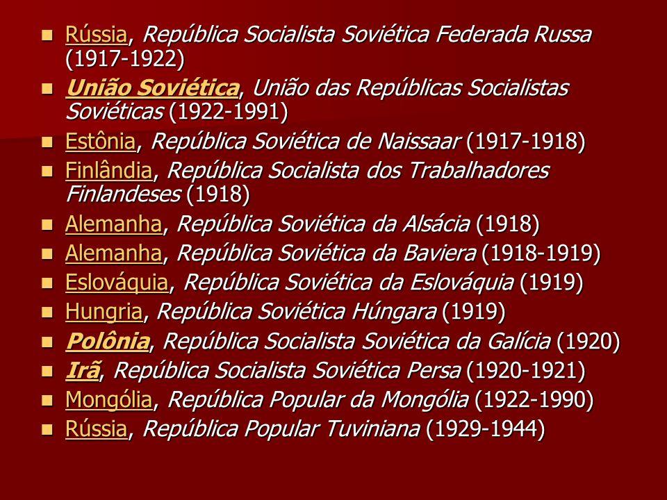 Rússia, República Socialista Soviética Federada Russa (1917-1922)