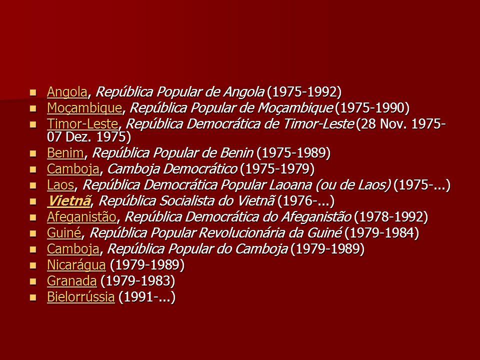 Angola, República Popular de Angola (1975-1992)