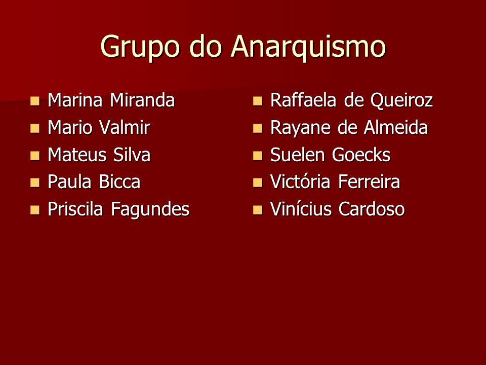 Grupo do Anarquismo Marina Miranda Mario Valmir Mateus Silva