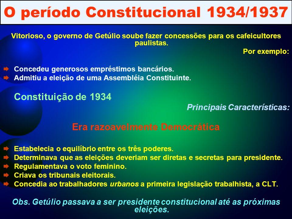 O período Constitucional 1934/1937