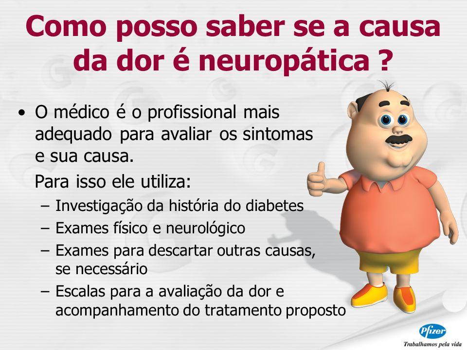 Como posso saber se a causa da dor é neuropática
