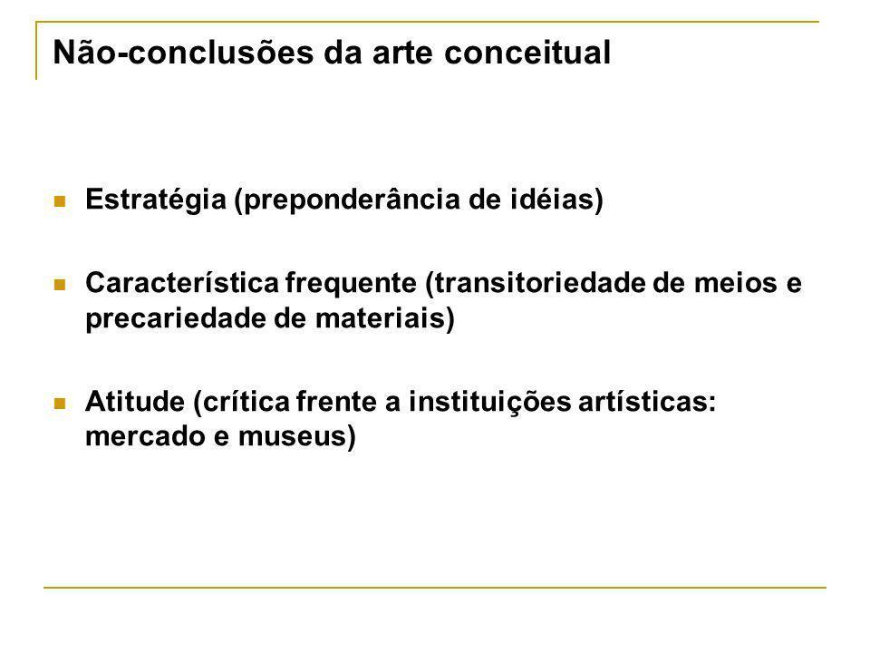 Não-conclusões da arte conceitual