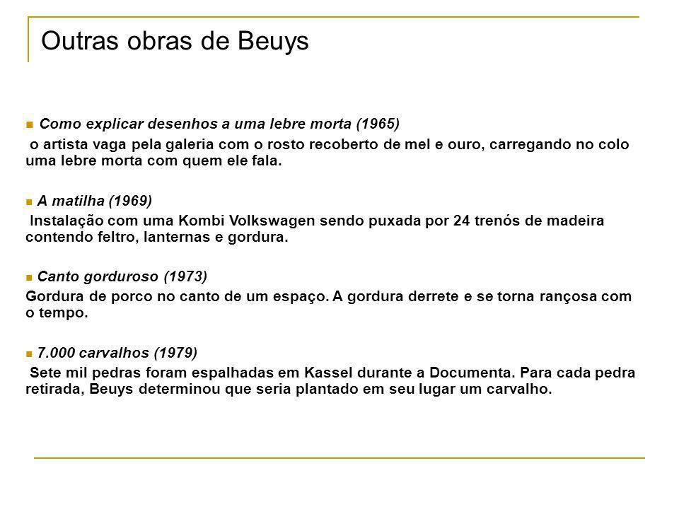Outras obras de Beuys Como explicar desenhos a uma lebre morta (1965)
