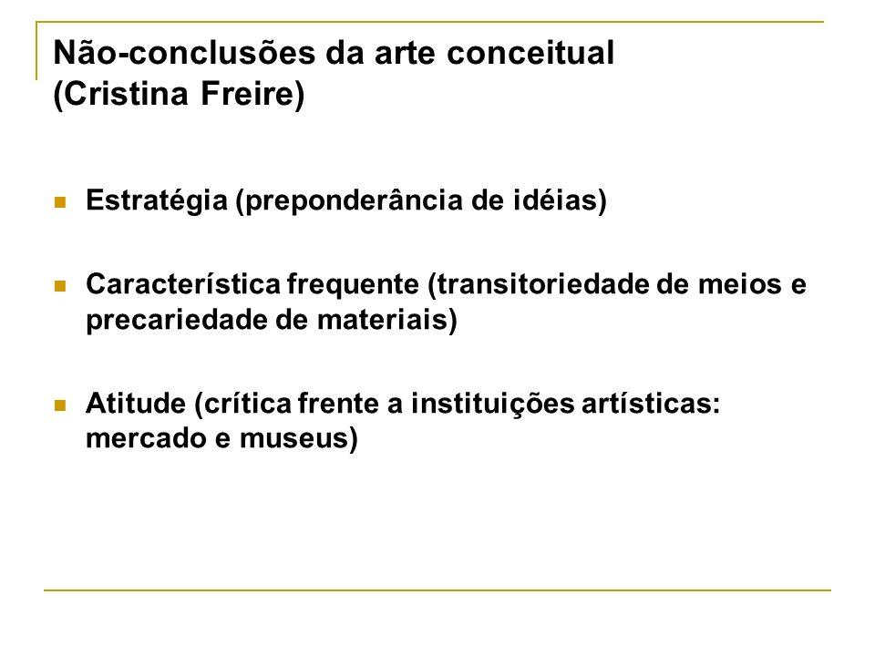 Não-conclusões da arte conceitual (Cristina Freire)
