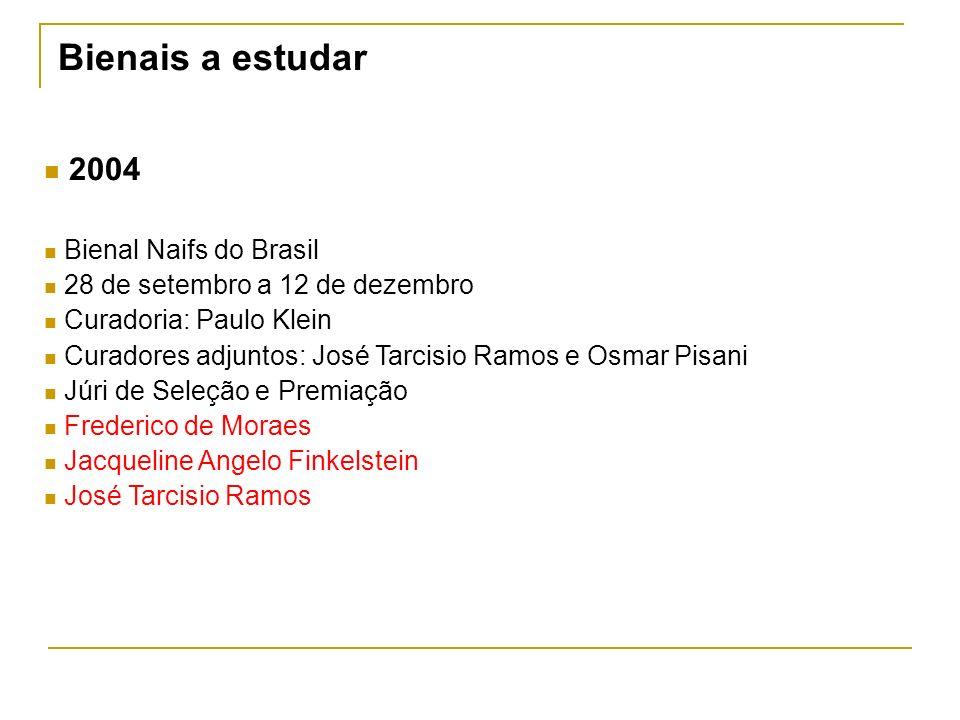 Bienais a estudar 2004 Bienal Naifs do Brasil