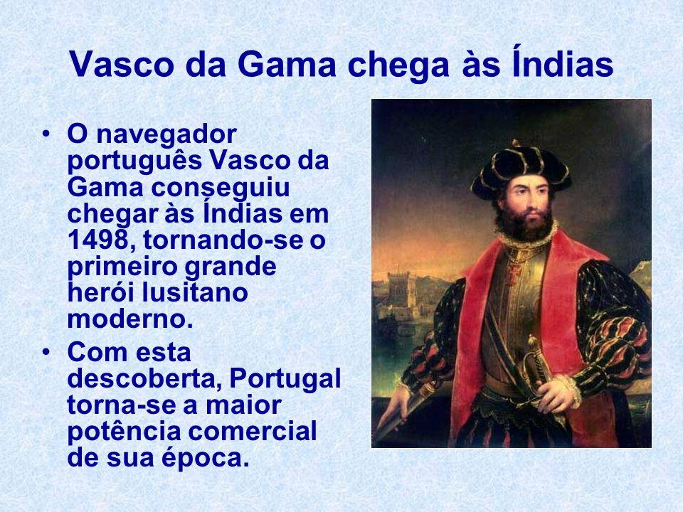 Vasco da Gama chega às Índias