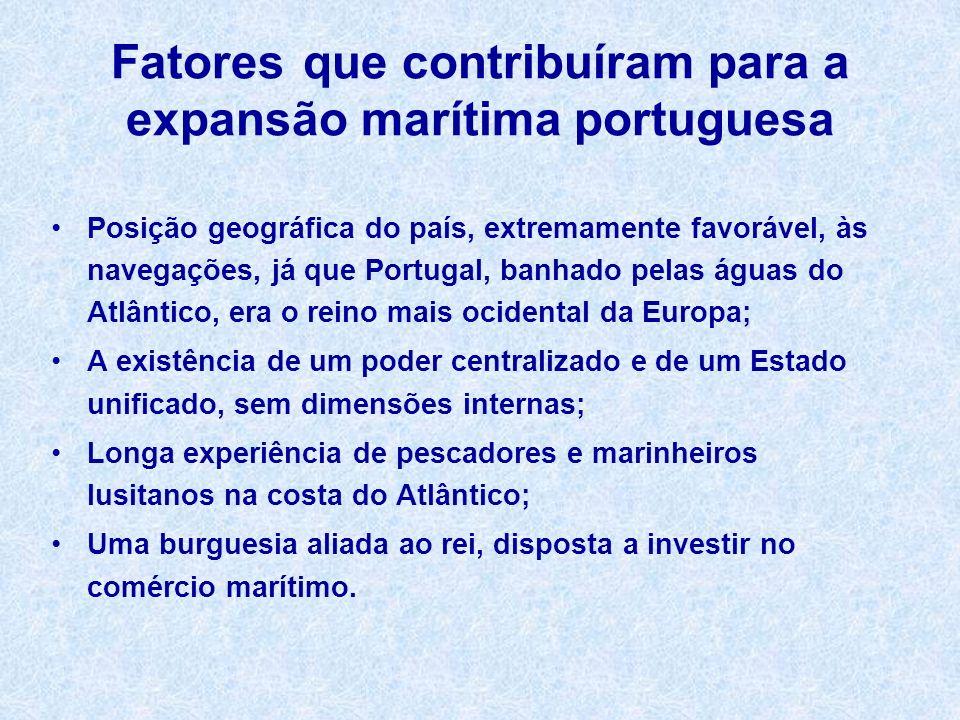Fatores que contribuíram para a expansão marítima portuguesa