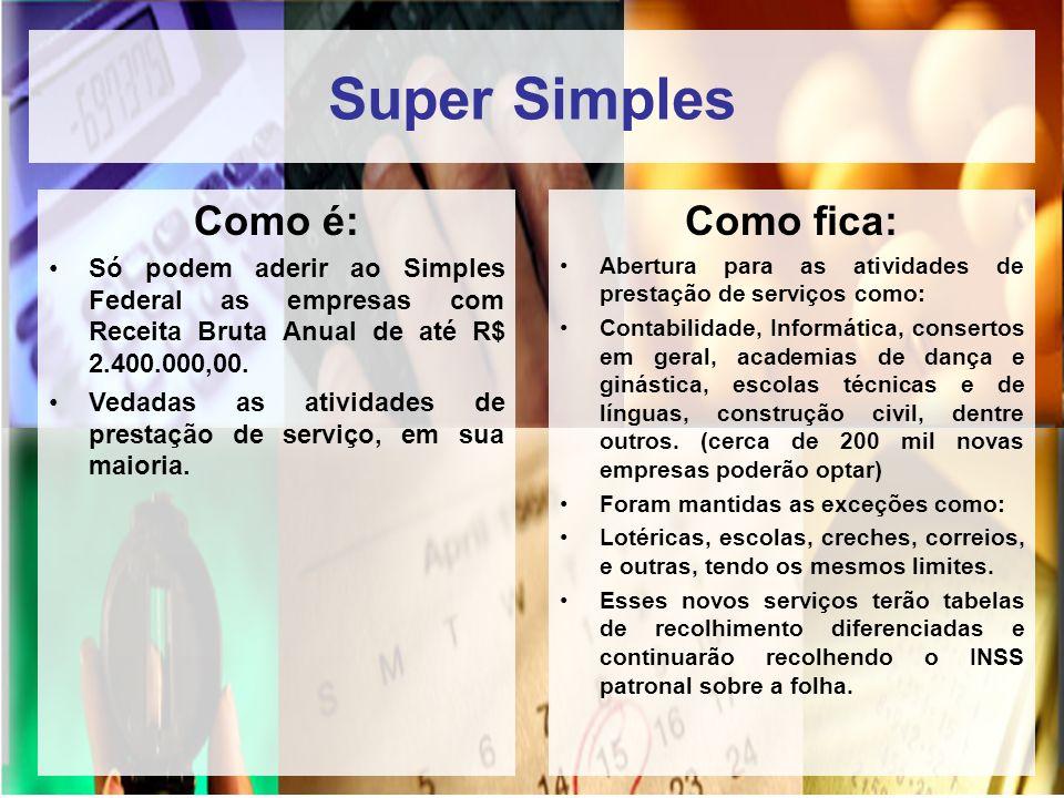 Super Simples Como é: Como fica: