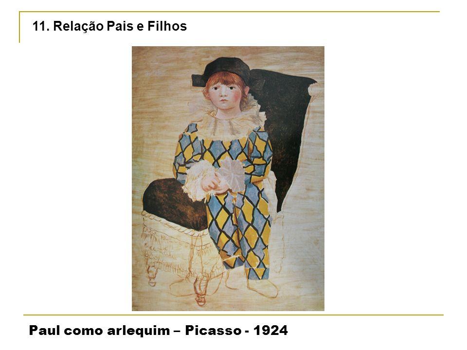 Paul como arlequim – Picasso - 1924