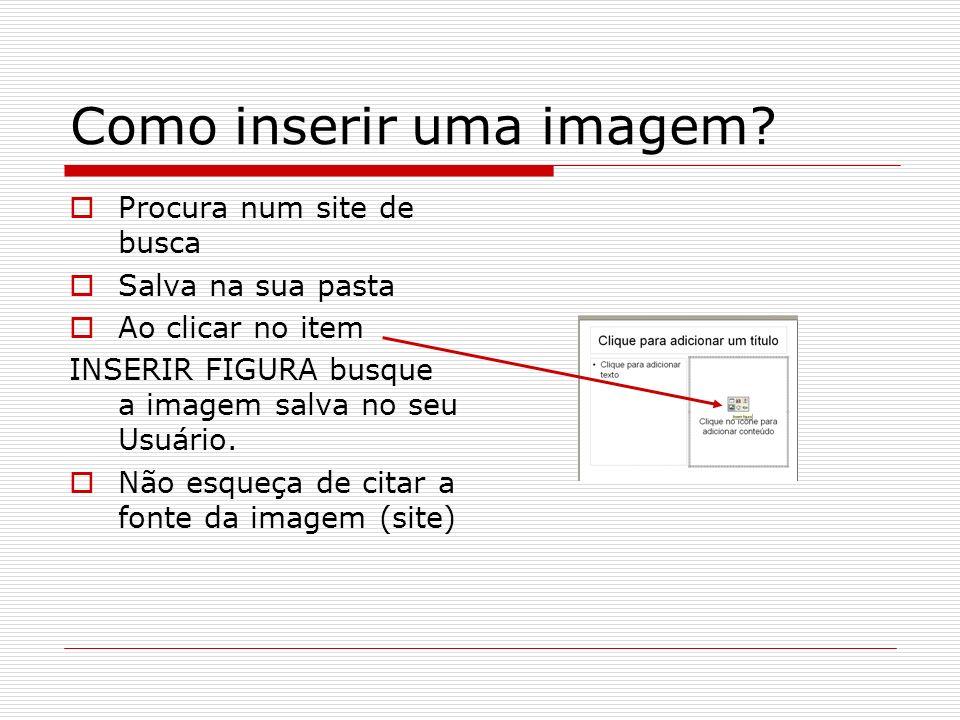 Como inserir uma imagem