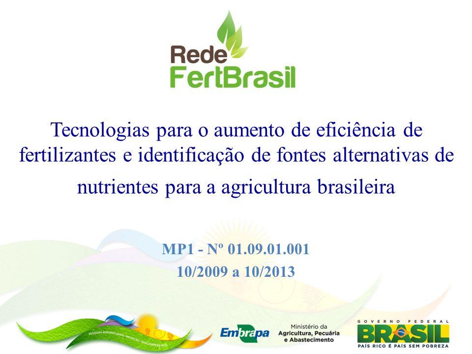 Tecnologias para o aumento de eficiência de fertilizantes e identificação de fontes alternativas de nutrientes para a agricultura brasileira