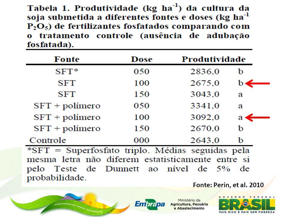 Fonte: Perin, et al. 2010