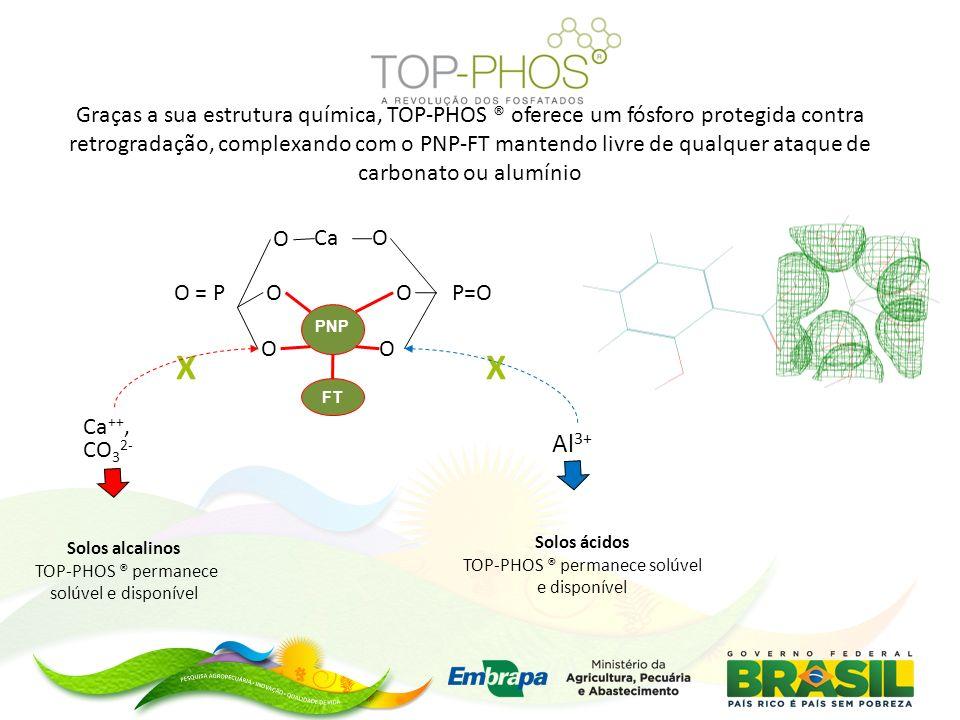 Graças a sua estrutura química, TOP-PHOS ® oferece um fósforo protegida contra retrogradação, complexando com o PNP-FT mantendo livre de qualquer ataque de carbonato ou alumínio