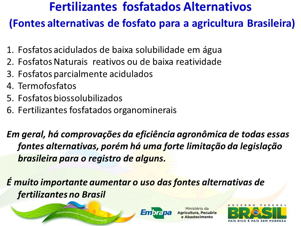 Fertilizantes fosfatados Alternativos