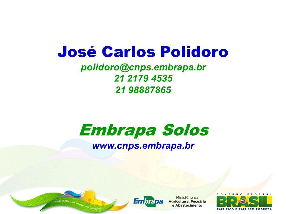 Embrapa Solos José Carlos Polidoro polidoro@cnps.embrapa.br