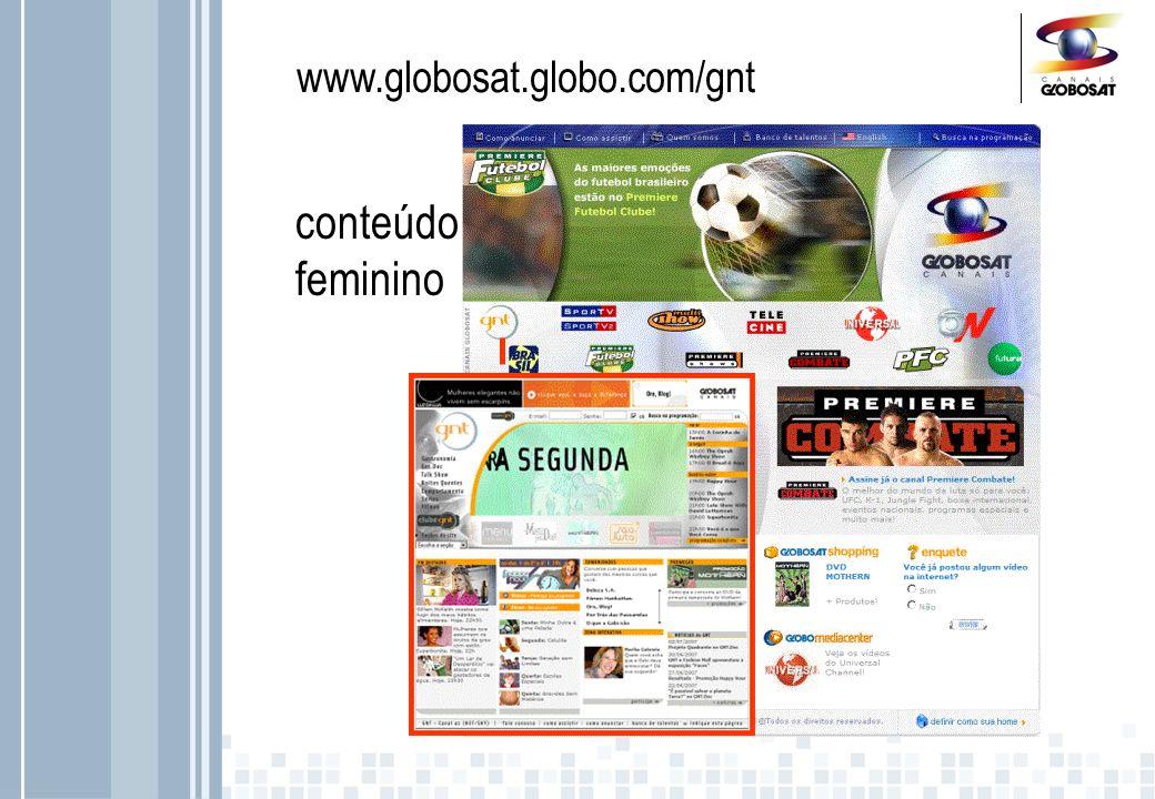 www.globosat.globo.com/gnt conteúdo feminino