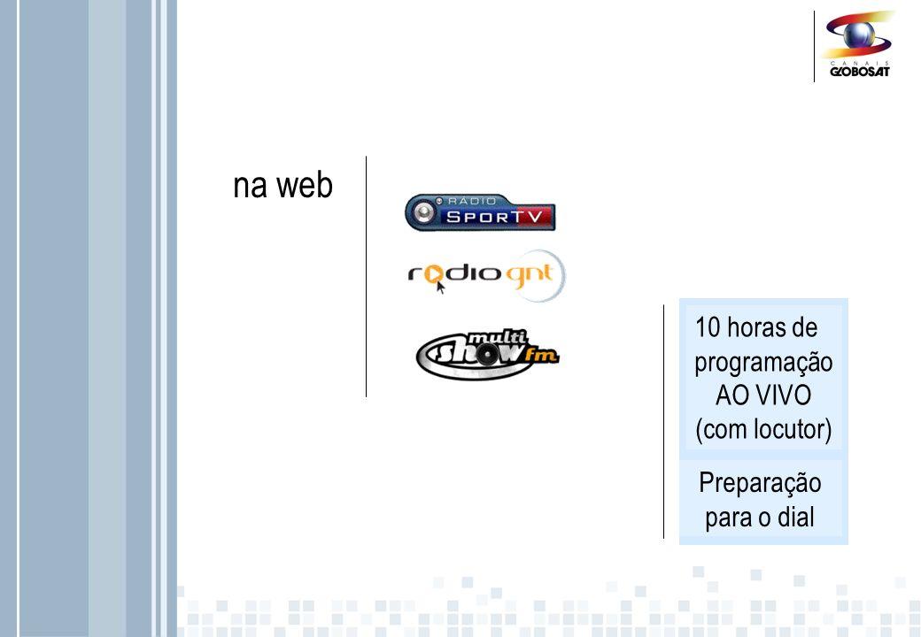 na web 10 horas de programação AO VIVO (com locutor)