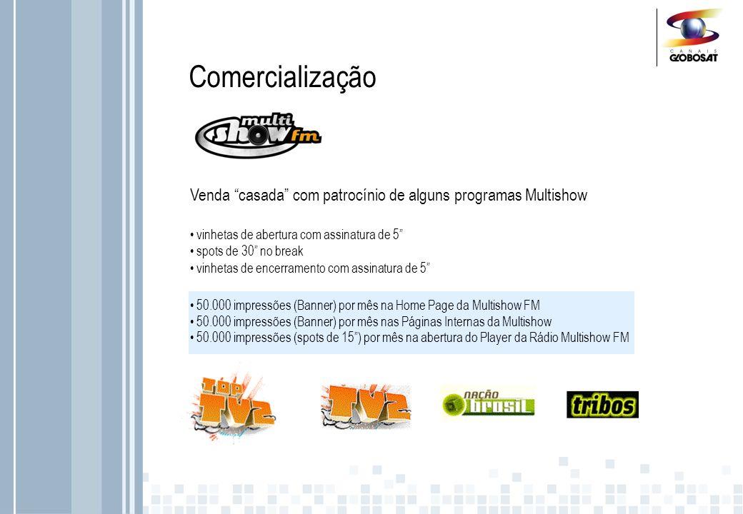ComercializaçãoVenda casada com patrocínio de alguns programas Multishow. vinhetas de abertura com assinatura de 5