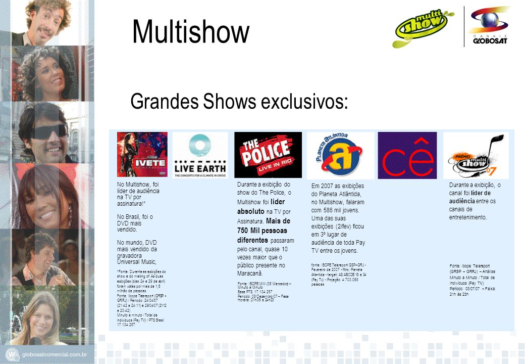 Multishow Grandes Shows exclusivos: