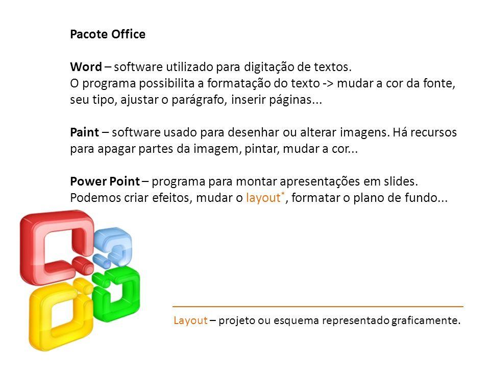 Word – software utilizado para digitação de textos.