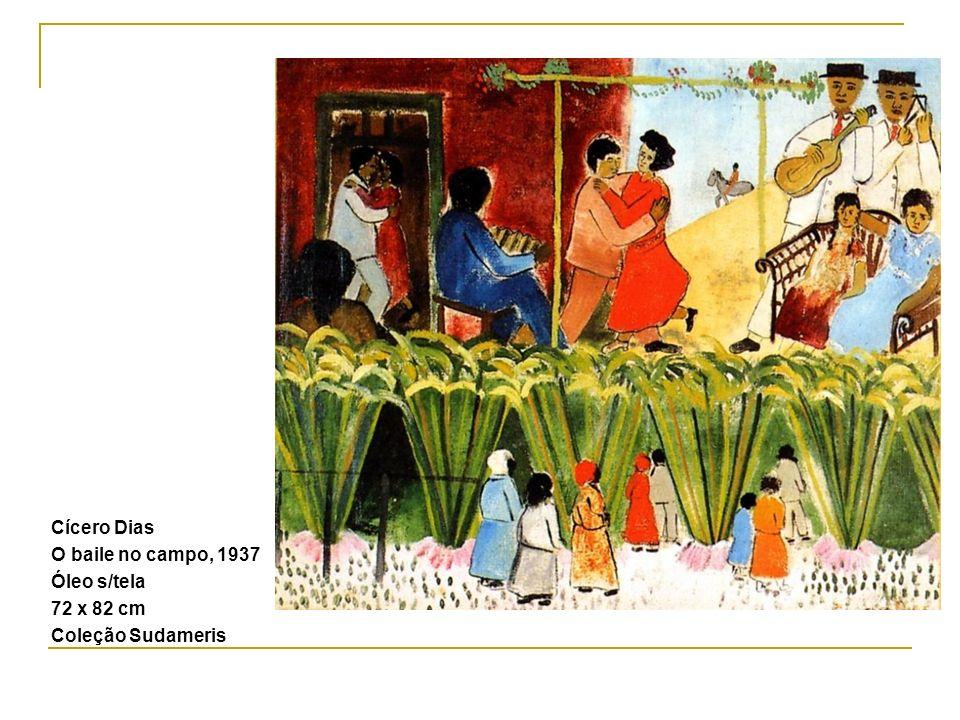 Cícero Dias O baile no campo, 1937 Óleo s/tela 72 x 82 cm Coleção Sudameris