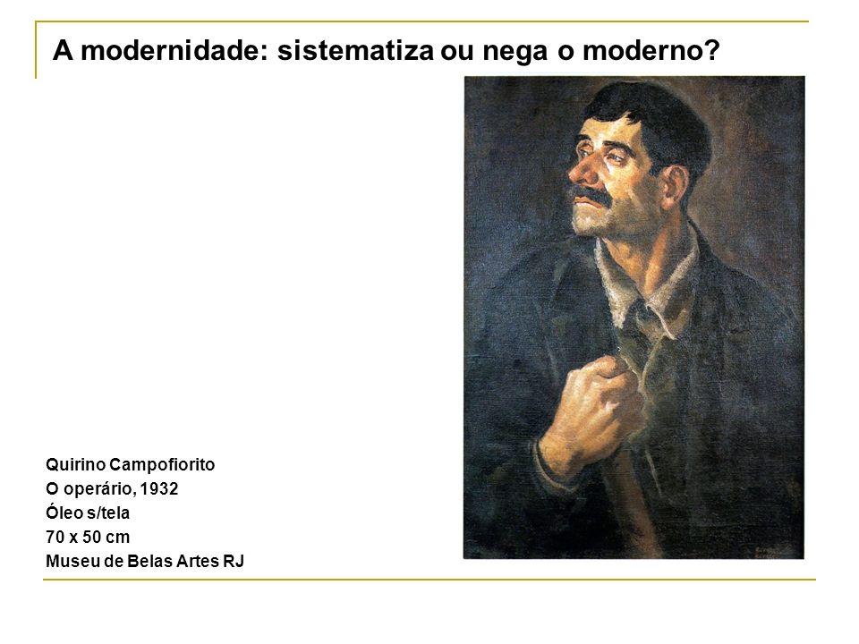 A modernidade: sistematiza ou nega o moderno