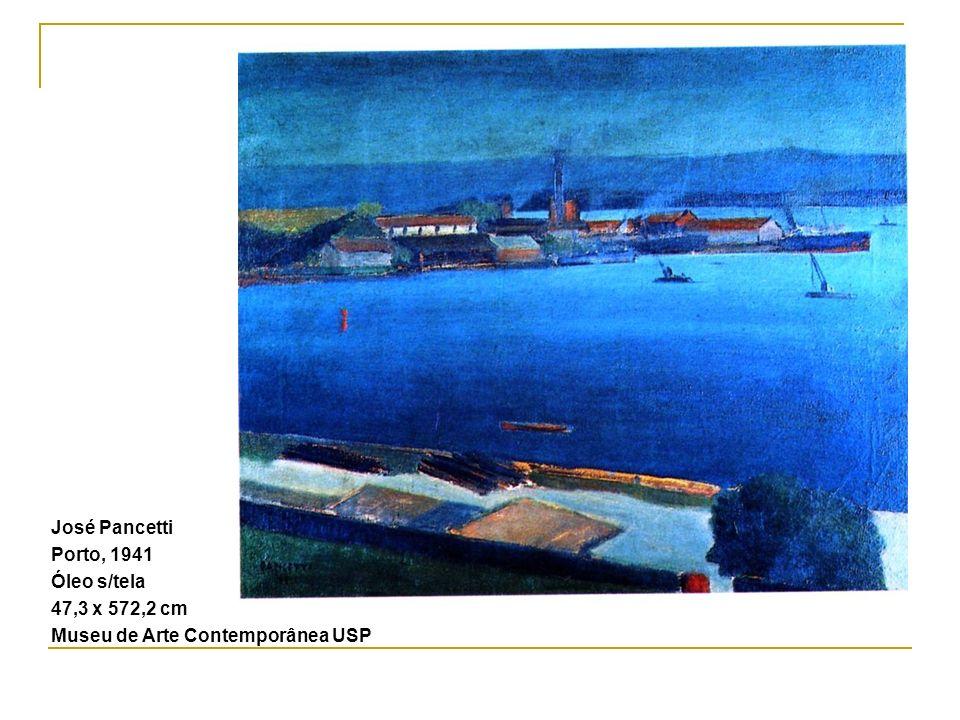 José Pancetti Porto, 1941 Óleo s/tela 47,3 x 572,2 cm Museu de Arte Contemporânea USP