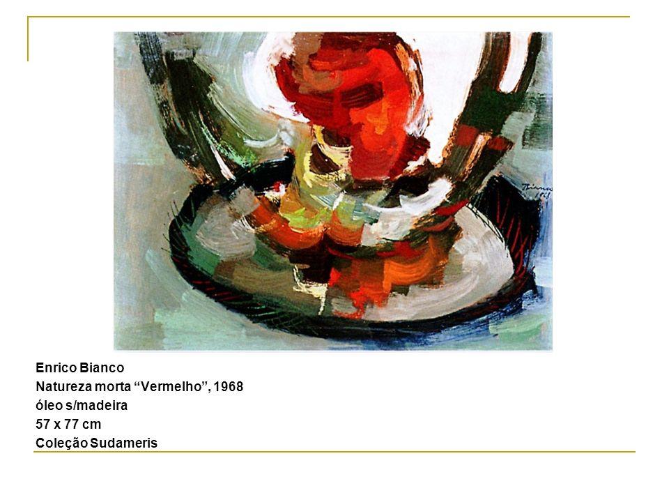 Enrico Bianco Natureza morta Vermelho , 1968 óleo s/madeira 57 x 77 cm Coleção Sudameris