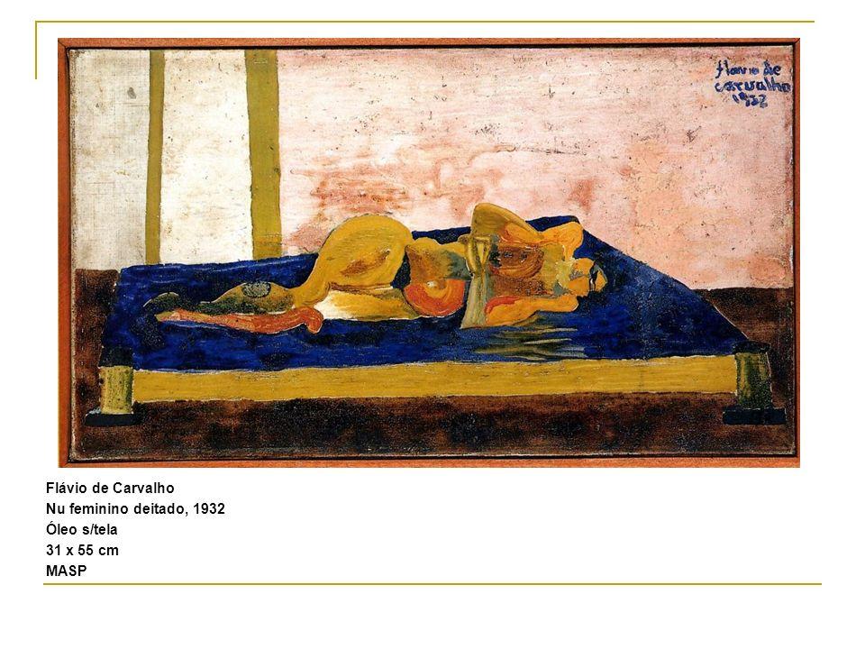 Flávio de Carvalho Nu feminino deitado, 1932 Óleo s/tela 31 x 55 cm MASP