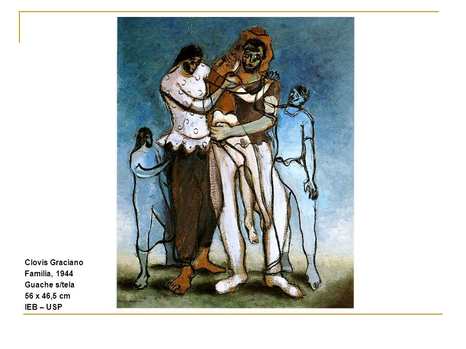 Clovis Graciano Família, 1944 Guache s/tela 56 x 46,5 cm IEB – USP