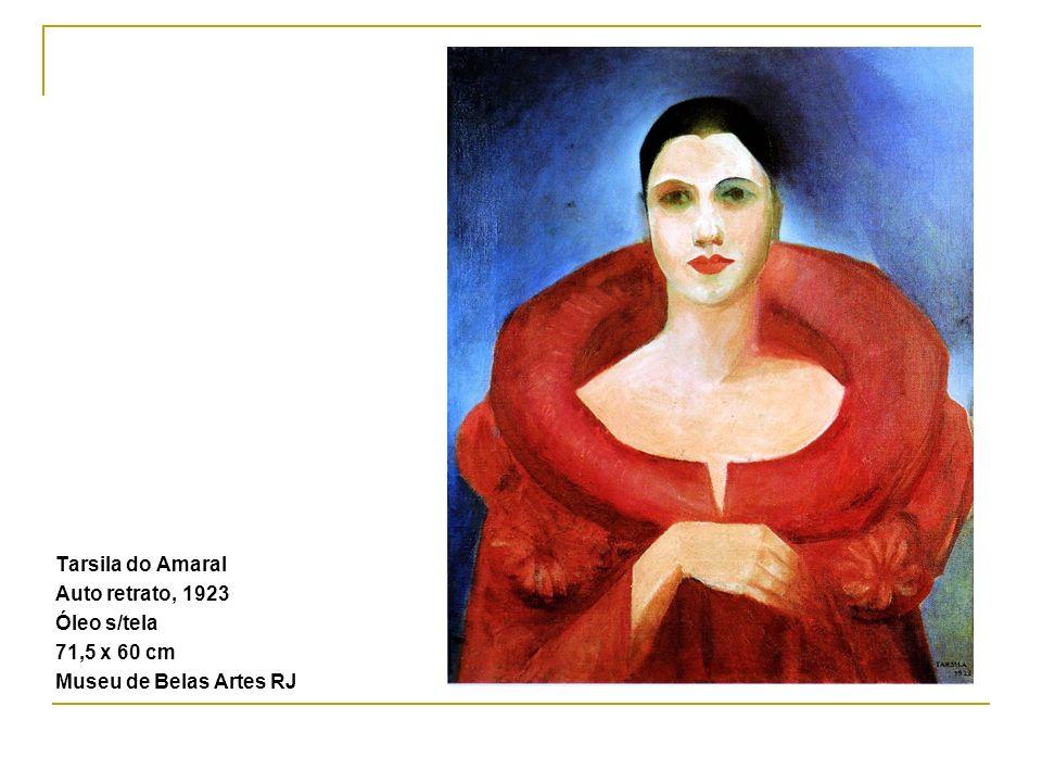 Tarsila do Amaral Auto retrato, 1923 Óleo s/tela 71,5 x 60 cm Museu de Belas Artes RJ