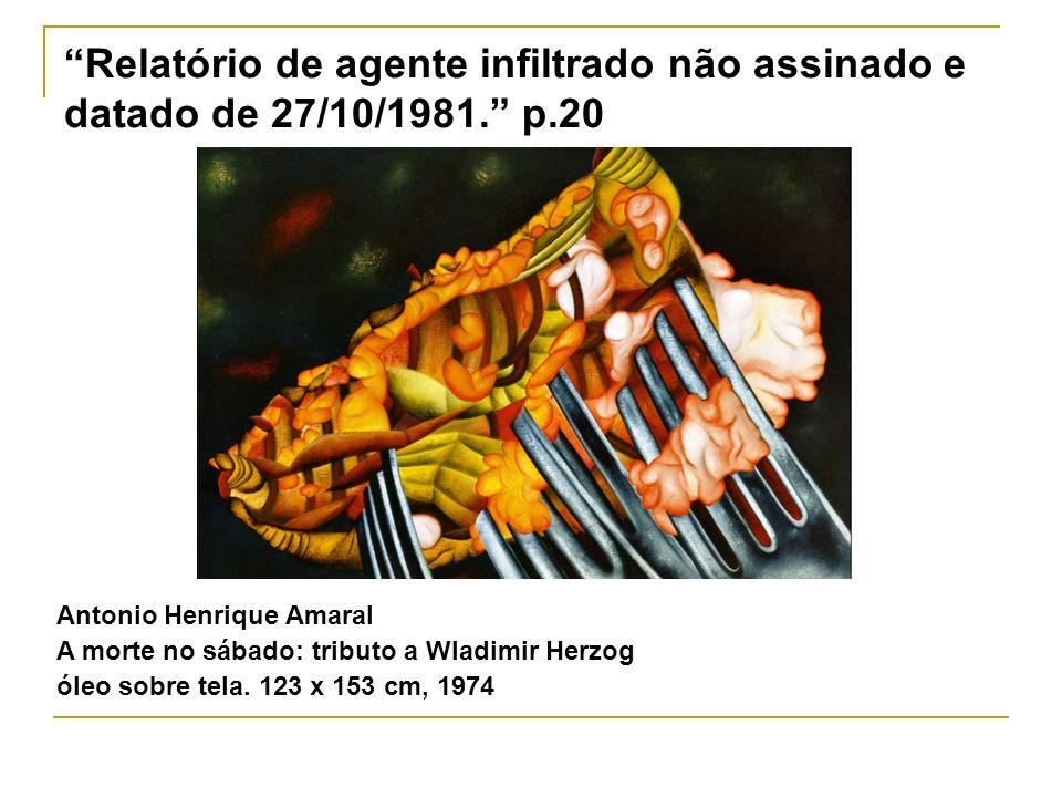Relatório de agente infiltrado não assinado e datado de 27/10/1981