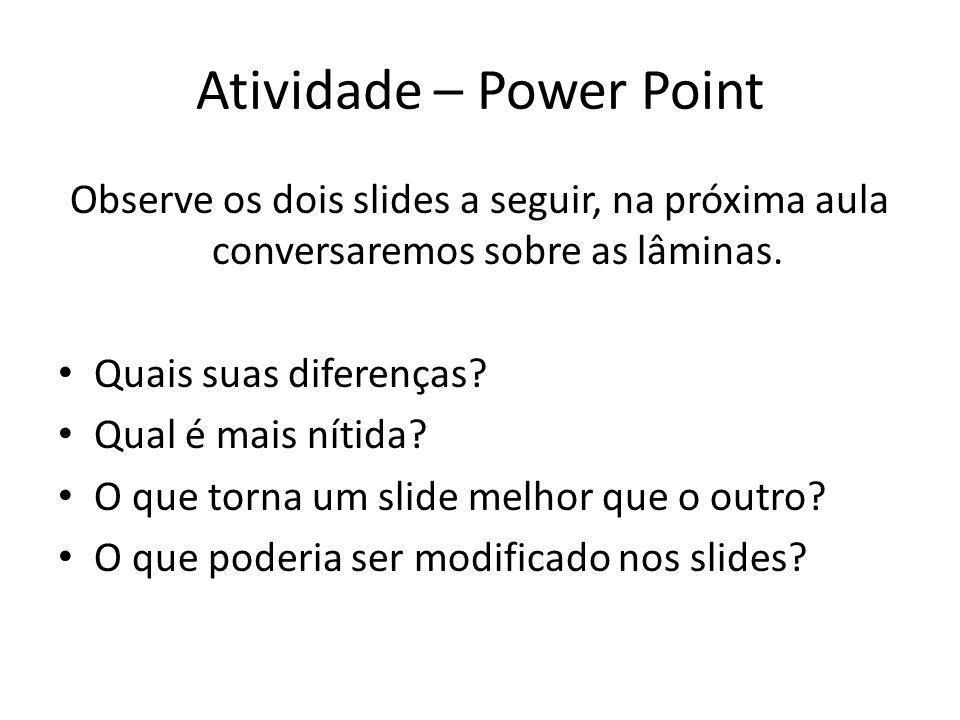 Atividade – Power Point