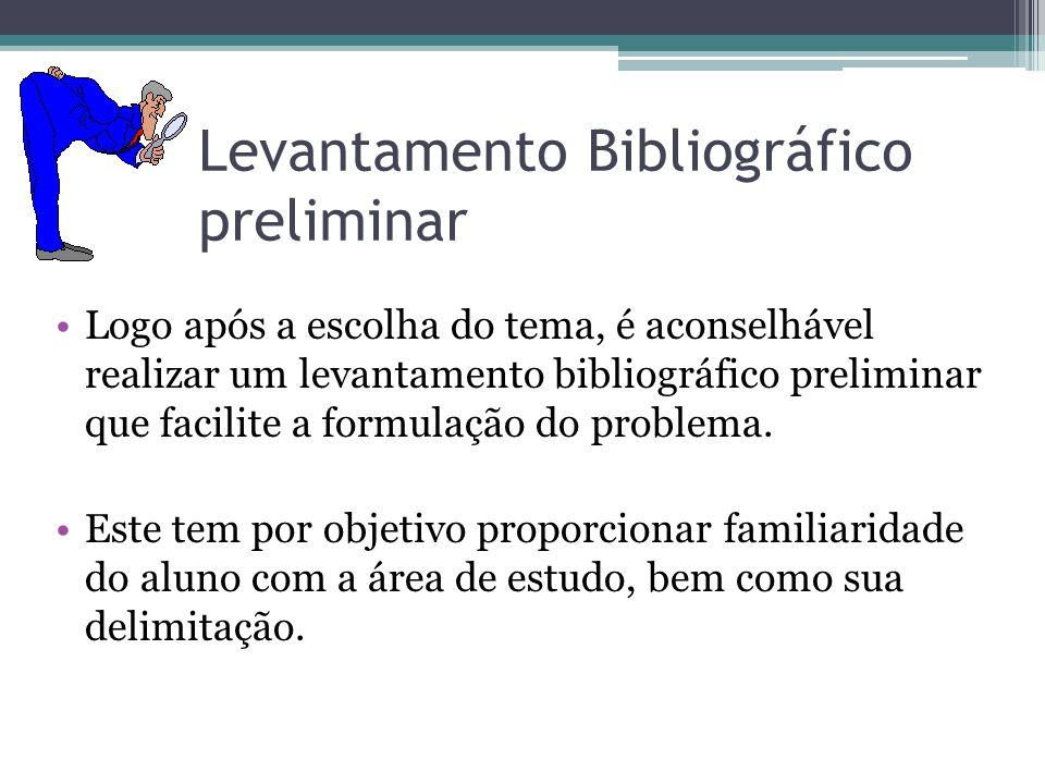 Levantamento Bibliográfico preliminar