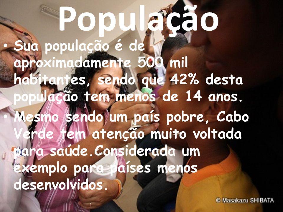 População Sua população é de aproximadamente 500 mil habitantes, sendo que 42% desta população tem menos de 14 anos.