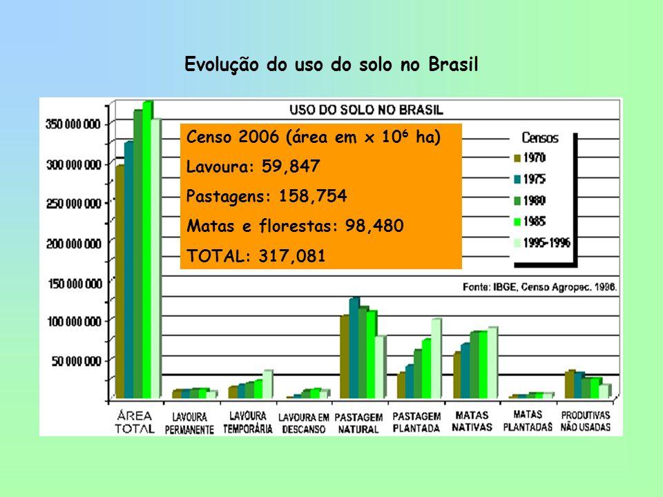 Evolução do uso do solo no Brasil