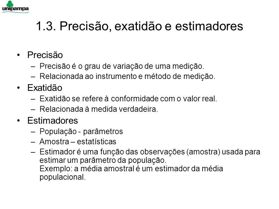1.3. Precisão, exatidão e estimadores