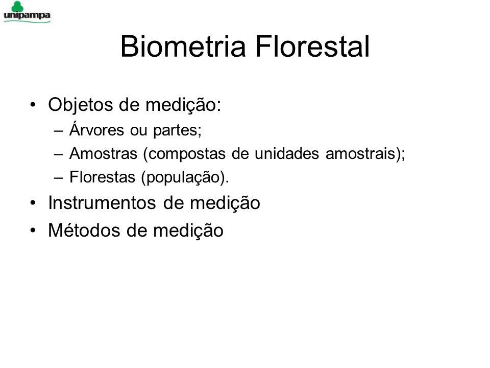 Biometria Florestal Objetos de medição: Instrumentos de medição